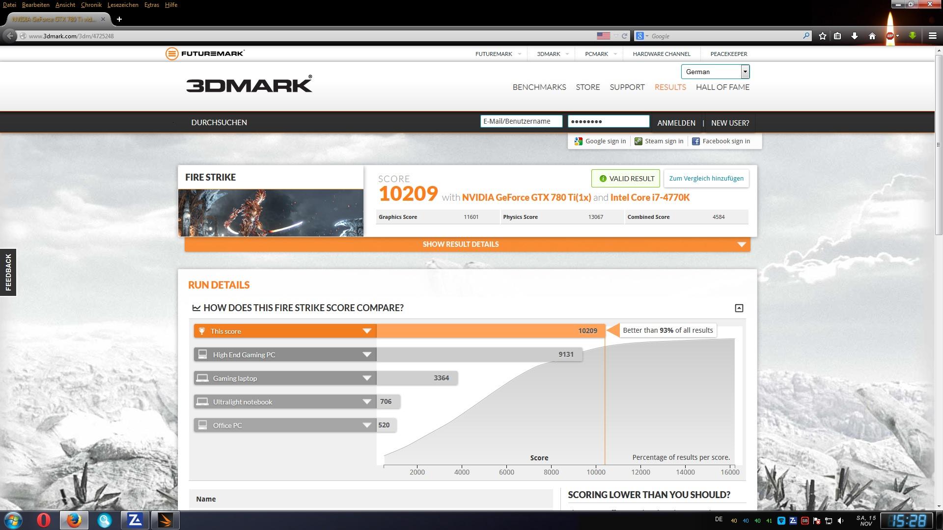 Klicke auf die Grafik für eine größere Ansicht  Name:Erster Fire Strike Test von Micha Nov. 2014.jpg Hits:125 Größe:404,2 KB ID:77897