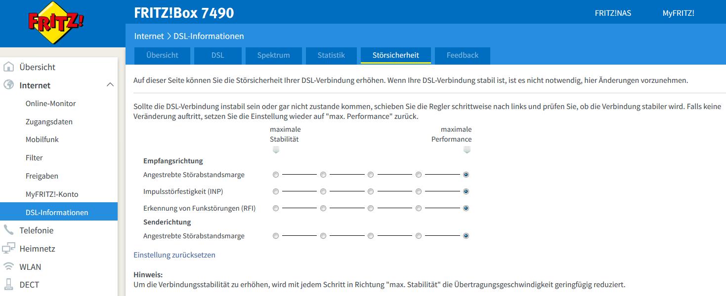 Klicke auf die Grafik für eine größere Ansicht  Name:Fritz!Box_Stoersicherheit.PNG Hits:27 Größe:103,4 KB ID:88461