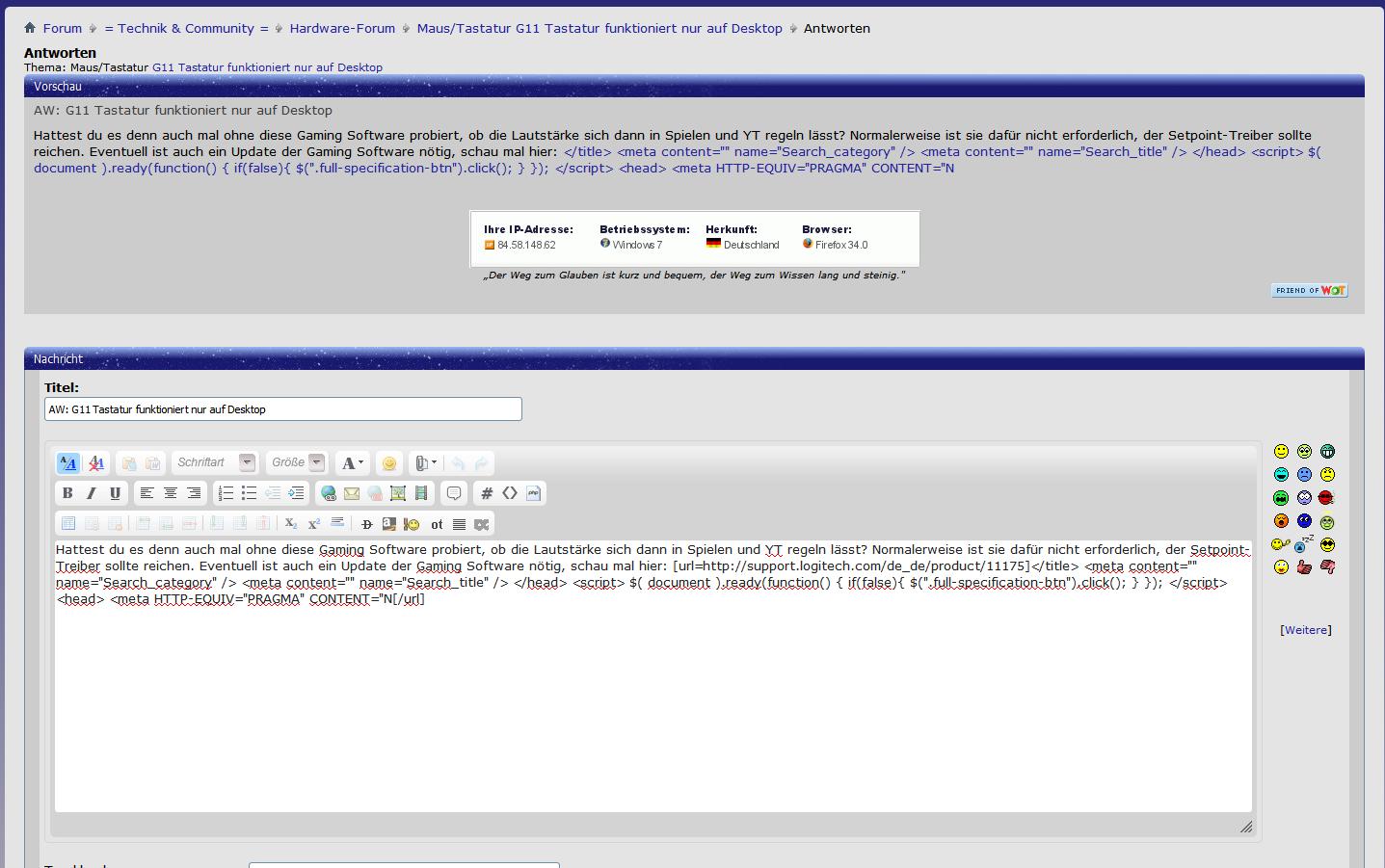 Klicke auf die Grafik für eine größere Ansicht  Name:Maus Tastatur G11 Tastatur funktioniert nur auf Desktop - Antworten.png Hits:250 Größe:137,7 KB ID:77986