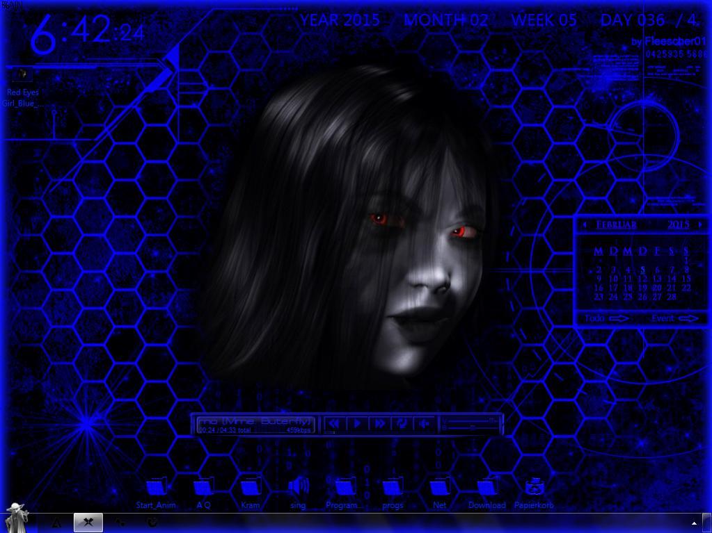 Klicke auf die Grafik für eine größere Ansicht  Name:Red Eyes Girl_Blue_Screen.jpg Hits:331 Größe:87,5 KB ID:78501