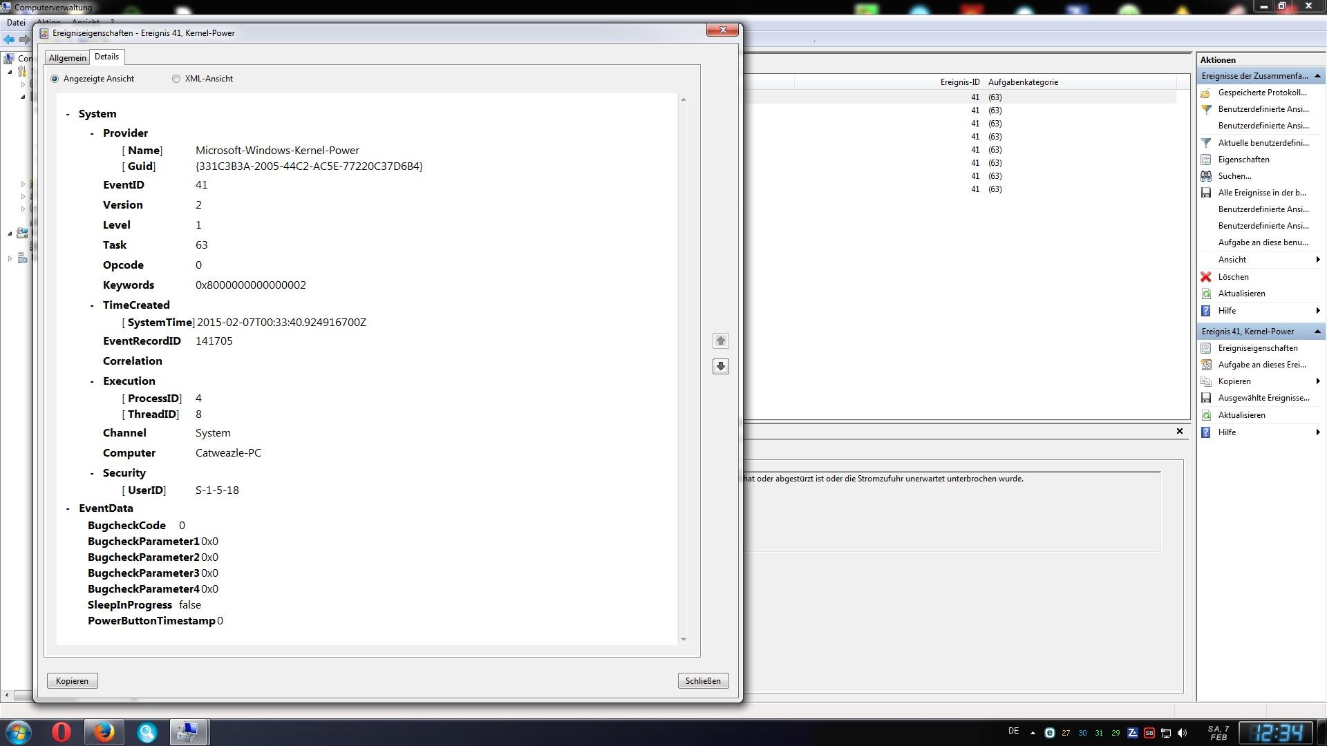 Klicke auf die Grafik für eine größere Ansicht  Name:Screenshot Ereignisanzeige 1.jpg Hits:202 Größe:295,6 KB ID:78518