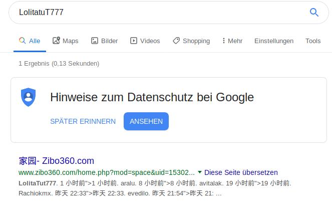 Klicke auf die Grafik für eine größere Ansicht  Name:Screenshot_2019-07-26 LolitatuT777 - Google-Suche.png Hits:117 Größe:29,1 KB ID:89010